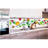 Samolepící tapety za kuchyňskou linku ovoce rozměr 260 cm x 60 cm