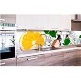 Samolepící tapety za kuchyňskou linku citron a led rozměr 260 cm x 60 cm