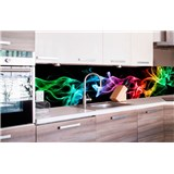 Samolepící tapety za kuchyňskou linku kouř černý rozměr 260 cm x 60 cm