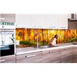 Samolepící tapety za kuchyňskou linku slunný les rozměr 260 cm x 60 cm