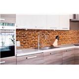 Samolepící tapety za kuchyňskou linku staré cihly rozměr 260 cm x 60 cm