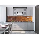 Samolepící tapety za kuchyňskou linku měděný kovový plát rozměr 260 cm x 60 cm