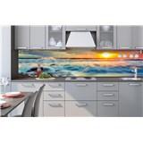 Samolepící tapety za kuchyňskou linku západ slunce na pobřeží rozměr 260 cm x 60 cm