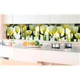 Samolepící tapety za kuchyňskou linku tulipány rozměr 350 cm x 60 cm