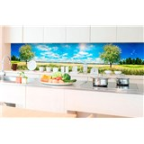 Samolepící tapety za kuchyňskou linku rozkvetlý strom rozměr 350 cm x 60 cm