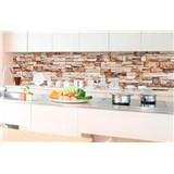 Samolepící tapety za kuchyňskou linku kamenná stěna rozměr 350 cm x 60 cm