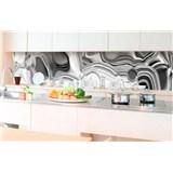 Samolepící tapety za kuchyňskou linku tekuté stříbro rozměr 350 cm x 60 cm