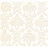 Luxusní vliesové tapety na zeď LACANTARA zámecký vzor světle zlatý na bílém podkladu