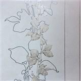 Vliesové tapety na zeď La Veneziana 3 stonky listů na šedém podkladu