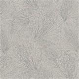 Vliesové tapety na zeď La Veneziana 4 pavučina stříbrná na hnědém podkladu