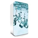 Samolepící tapety na lednici kostky ledu rozměr 120 cm x 65 cm