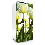 Samolepící tapety na lednici žluté tulipány rozměr 120 cm x 65 cm