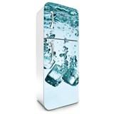 Samolepící tapety na lednici kostky ledu rozměr 180 cm x 65 cm