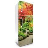 Samolepící tapety na lednici podzimní zahrada rozměr 180 cm x 65 cm