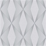 Vliesové tapety na zeď LIVIO geometrický vzor šedý na šedém podkladu