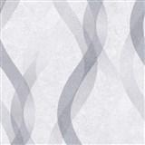 Vliesové tapety na zeď LIVIO vlnovky šedo-stříbrné na šedém podkladu POSLEDNÍ KUSY