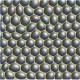 Vliesové tapety na zeď Harmony Mac Stopa 3D bubliny šedé se zelenými konturami