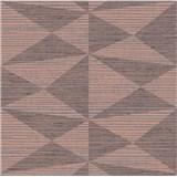 Luxusní vliesové tapety na zeď Madison kubistický vzor hnědý s měděnými odlesky