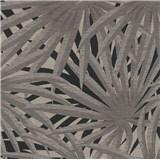 Vliesové tapety na zeď IMPOL Metropolitan Stories palmové listy šedé na černém podkladu