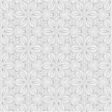 Vliesové tapety na zeď Mixing květinky vytlačované šedé