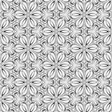 Vliesové tapety na zeď Mixing květinky vytlačované černé