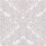 Vliesové tapety na zeď Mixing zámecký vzor bílo-hnědý na šedém podkladu