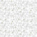 Vliesové tapety na zeď Modern trojúhelníky šedo-hnědé se vzorem