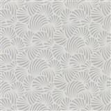Vliesové tapety na zeď Nabucco malý vějířovitý vzor stříbrný na světle šedém podkladu