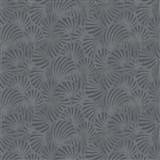 Vliesové tapety na zeď Nabucco malý vějířovitý vzor tmavě šedý s metalickými odlesky