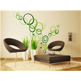 Samolepky na zeď Green Circles 50 cm x 70 cm