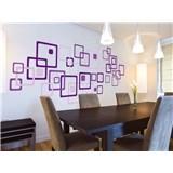 Samolepky na zeď Violet Squares 50 cm x 70 cm