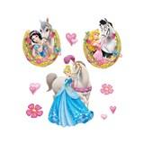 Samolepky na zeď dětské - princezna Disney Princezny 30 x 40 cm