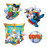 Samolepky na zeď dětské - Mickey and Donald 30 x 40 cm