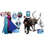 Samolepky na zeď Frozen Anna, Elsa a Olaf rozměr 30 x 40 cm
