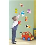 Samolepky na stěnu dětská čísla, 2x 60 x 32 cm, 17 dílná sada
