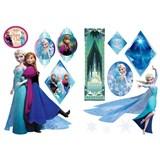 Samolepky na zeď Frozen - Anna & Elsa rozměr 45 x 65 cm