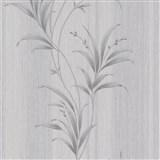 Vliesové tapety na zeď Natalia rákos stříbrný na šedém podkladu