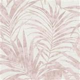 Vliesové tapety na zeď IMPOL NEU listy palmy růžové na krémovém, podkladu