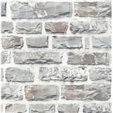Vliesové tapety na zeď NEUE BUDE 2.0 cihlová stěna světle šedá