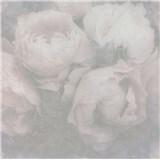 Vliesové tapety na zeď IMPOL New Wall květy velké šedo-růžové