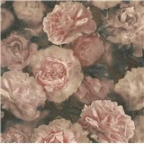 Vliesové tapety IMPOL New Studio květinový vzor růžovo-černý