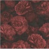Vliesové tapety IMPOL New Studio květinový vzor červeno-černý