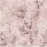 Vliesové tapety na zeď IMPOL New Wall florální vzor růžový