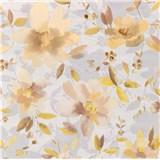 Vliesové tapety na zeď Nizza květy hnědé