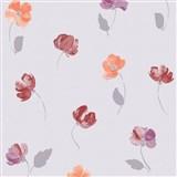 Vliesové tapety na zeď Nizza drobné květiny červené, fialové, oranžové
