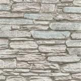 Vliesové tapety na zeď Belinda kámen ukládaný hnědo-modrý