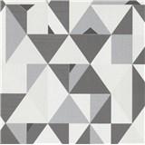 Vliesové tapety na zeď IMPOL Novara 3 geometrický vzor šedo-bílý