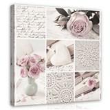 Obraz na plátně květy růží 60 x 60 cm