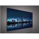 Obraz na plátně noční velkoměsto 75 x 100 cm