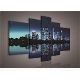 Obraz na plátně noční velkoměsto 170 x 100 cm